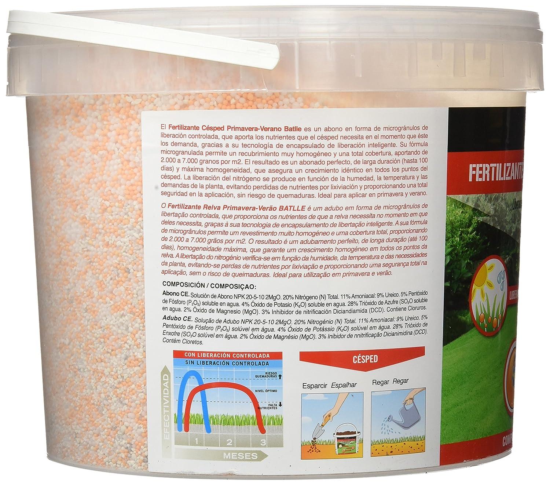 Abonos - Fertilizante Cesped Primavera-Verano Cubo 5kg - Batlle: Amazon.es: Jardín