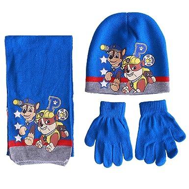 Paw Patrol Chase Boys Hat /& Gloves Set