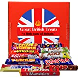 British Foods Worldwide Nestlé Gift Box | 12 British Chocolate Bars: Smarties, Yorkie, Aero, Munchies, Toffee Crisp, Lion Bar, Kit-Kat, Rolo, Milky Bar