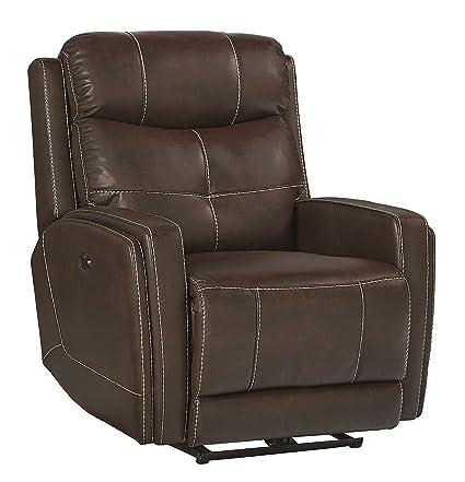 Brilliant Amazon Com Granger Clove Brown Faux Leather Power Glider Machost Co Dining Chair Design Ideas Machostcouk