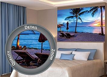 Great Art Xxl Poster Twilight Tramonto Sulla Spiaggia Crepuscolo Mare Paradiso Sole Oceano Motivo Di Spiaggia Sabbiosa Decorazione Da Parete Fotomurale 140 X 100 Cm Amazon It Casa E Cucina