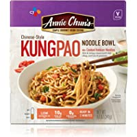 Annie Chun's Kung Pao Noodle Bowl   Vegan, Shelf-Stable, 8.5-oz (Pack of 6), Chinese-Style Microwaveable Ready Meal