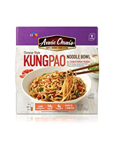 Annie Chun's Kung Pao Noodle Bowl | Vegan, Shelf-Stable, 8.5-oz (Pack of 6), Chinese-Style Microwaveable Ready Meal