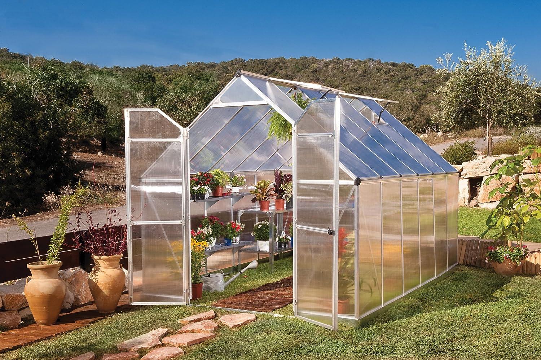 amazon com palram nature series essence hobby greenhouse 8 u0027 x