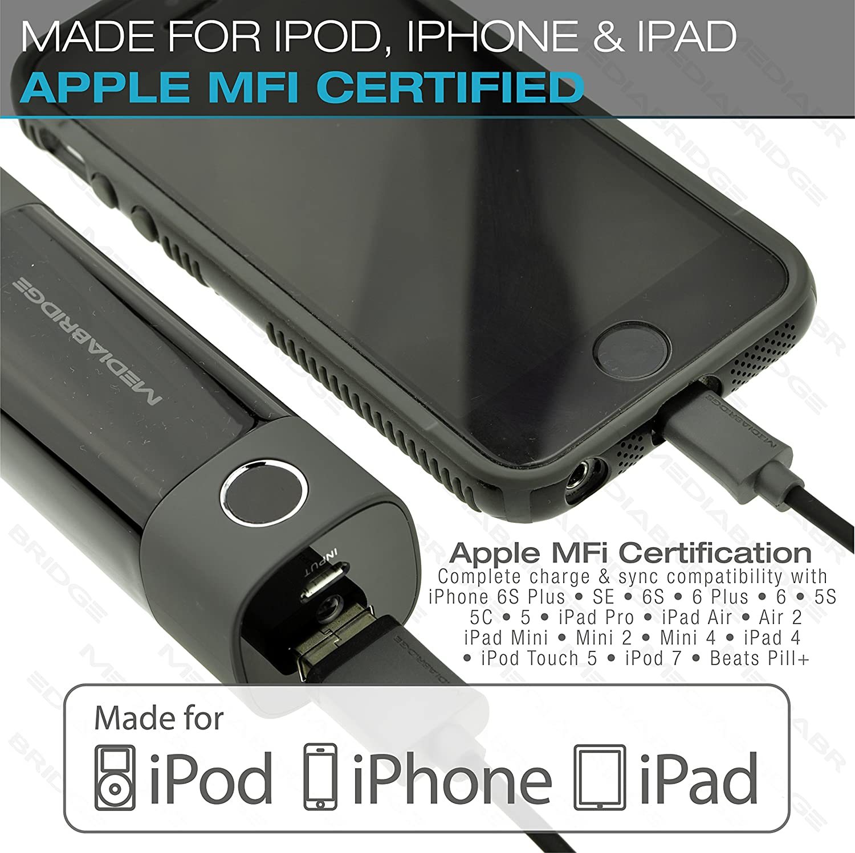 Amazon.com: Mediabridge Apple MFI Certified iPhone Charger (10 Feet ...
