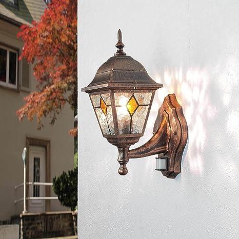 """Lámpara de pared de exterior con detector de movimiento""""SALZBURG en Antiguo/120"""