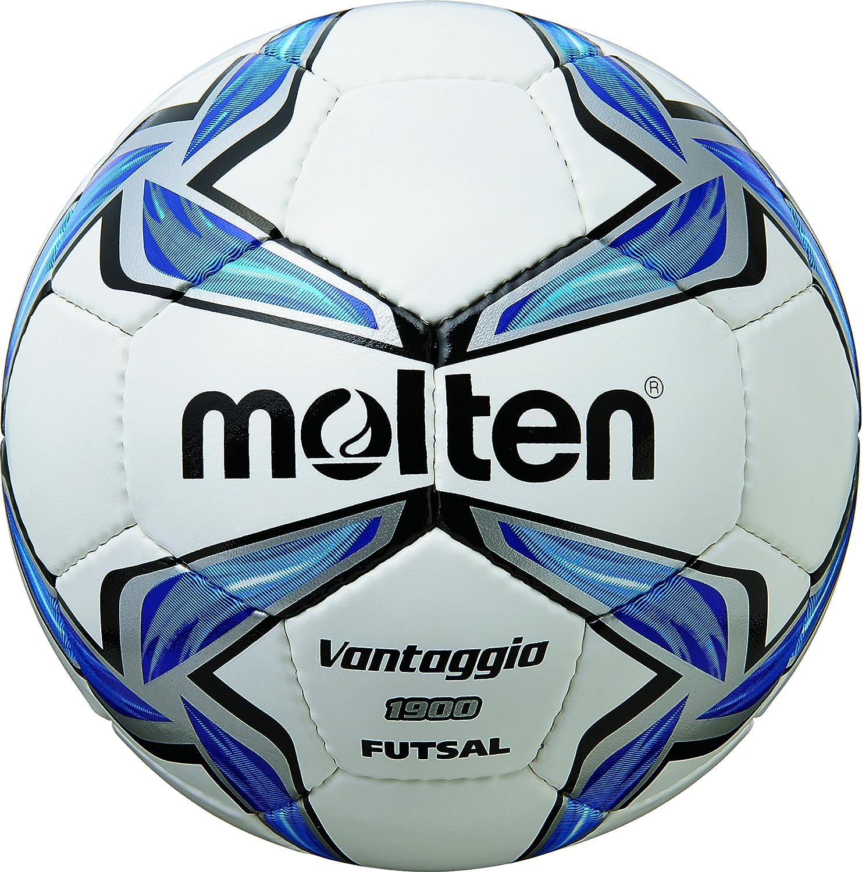 Molten Ballon de Football pour Foot en Salle Blanc/Bleu/Argent - 4/f9V1900