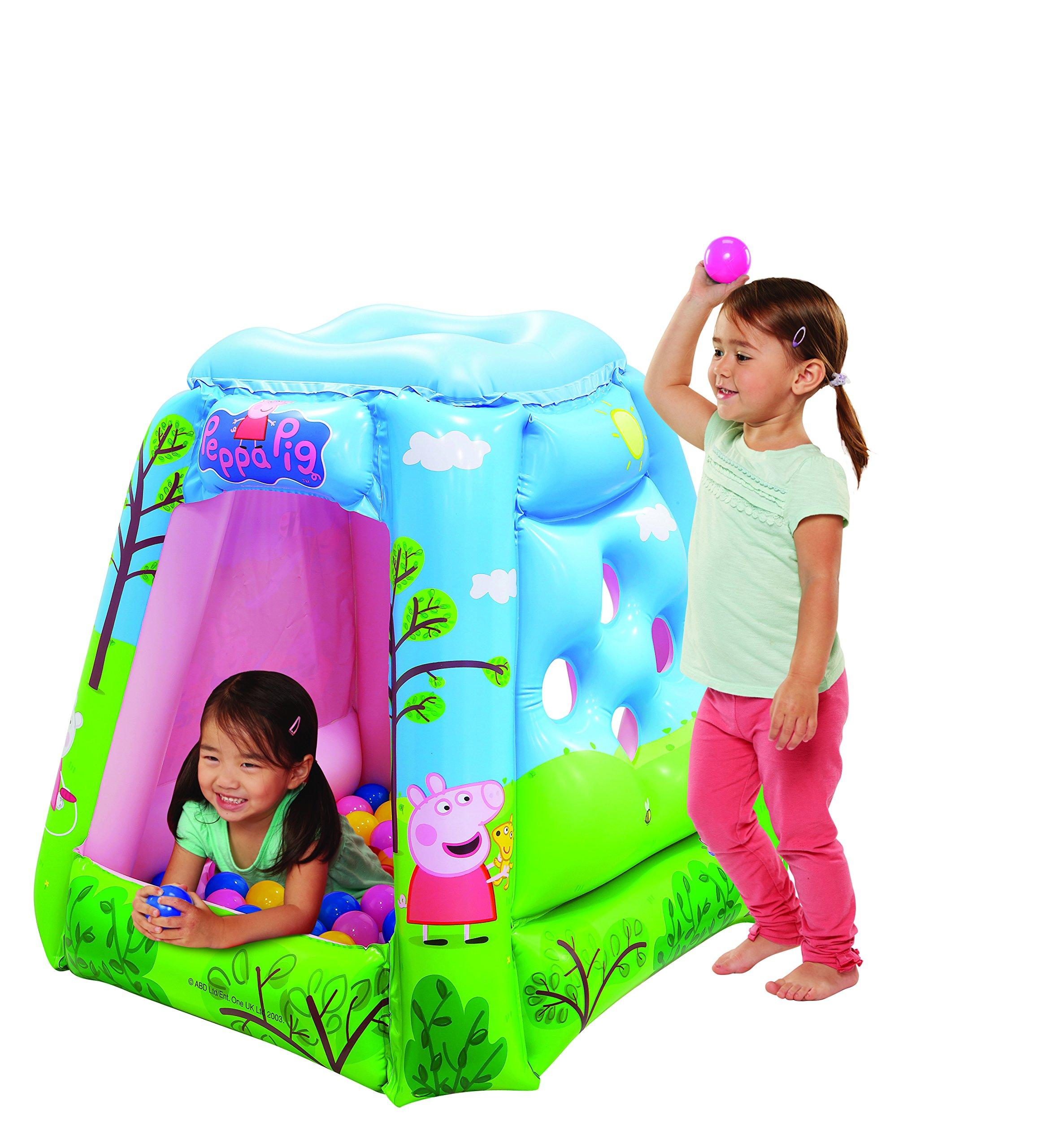 Peppa Pig Ball Pit, 1 Inflatable & 20 Sof-Flex Balls, Blue/Green, 37''W x 37''D x 34''H
