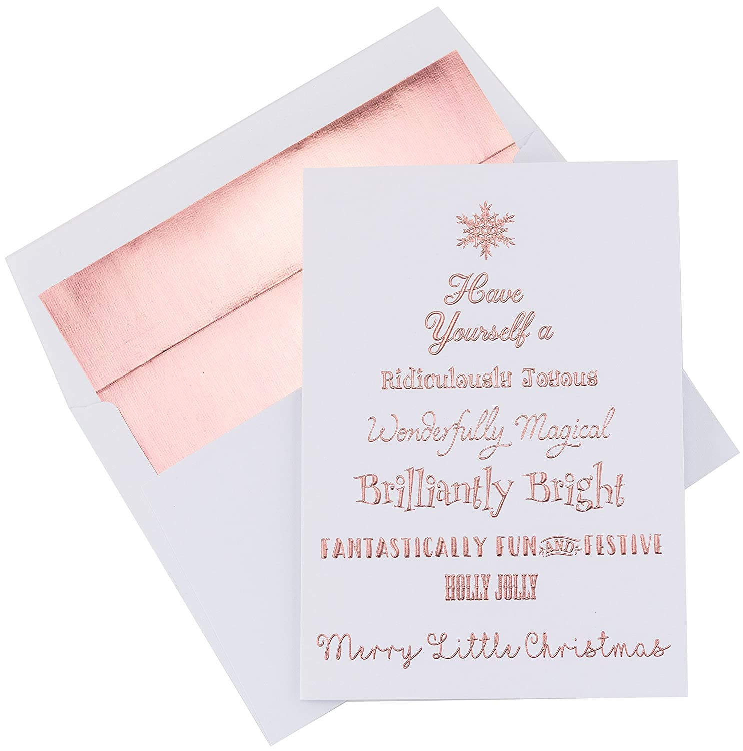"Amazon Christmas Cards ""Merry Little Christmas"" 20 Pack of"