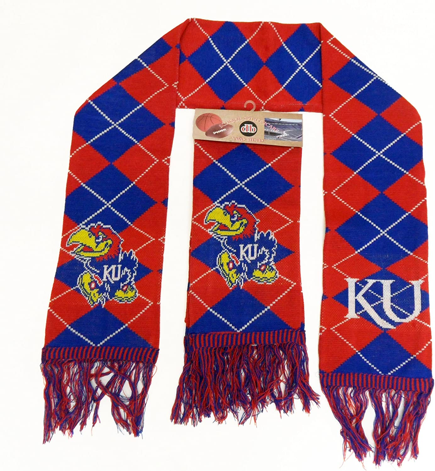 One Size Red Donegal Bay NCAA Kansas Jayhawks Unisex Kansas Solid Blue Tie