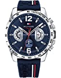 Tommy Hilfiger Unisex-Adult Multi dial Quartz Connected Wrist Watch with Silicone Strap 1791476