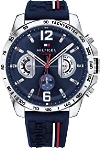 Tommy Hilfiger Reloj Multiesfera para Hombre de Cuarzo con Correa en Silicona 1791476