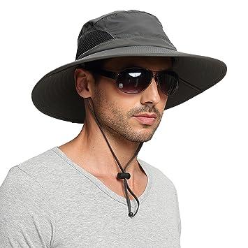 cd3da04a2 EINSKEY Sun Hats for Men, Unisex UV Protection Wide Brim Bucket Hat  Foldable Waterproof Outdoor