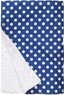 "product image for Original Baby Elephant Ears Boys & Girls Baby Blanket-Soft Minky, for Newborn Infants & Toddlers, Plush Blanket - (Blue Dot, X-Large 42"" x 32"")"