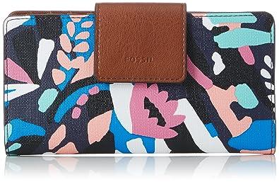 Damen Geldb?rse? Emma Rfid Tab Clutch, Womens Wallet, Multicolour (Multi), 2.2200000000000002x8.89x17.78 cm (B x H T) Fossil