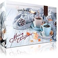 """Teebeutel Adventskalender mit 24 Pyramiden-Teebeuteln""""Single Pack"""" 2018 von Two leaves and a Bud mit Tees und Teemischungen   Adventkalender Weihnachts-Kalender   Geschenkset"""