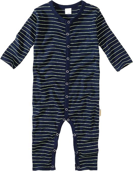wellyou Baby und Kinder Schlafanzug//Pyjama aus Baumwolle in Marine Neongelb 116-122 Blau