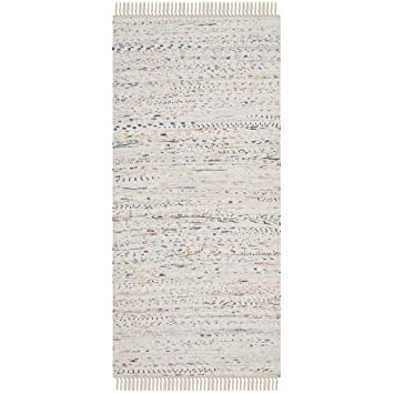 Safavieh Rag Rug Collection RAR121G Hand Woven Ivory And Multi Cotton Area  Rug (2u0027