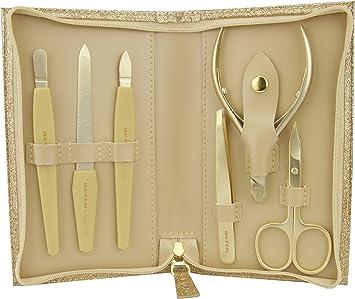 Beter Lady Gold - Estuche de manicura, cierre con cremallera, color dorado brillante: Amazon.es: Salud y cuidado personal