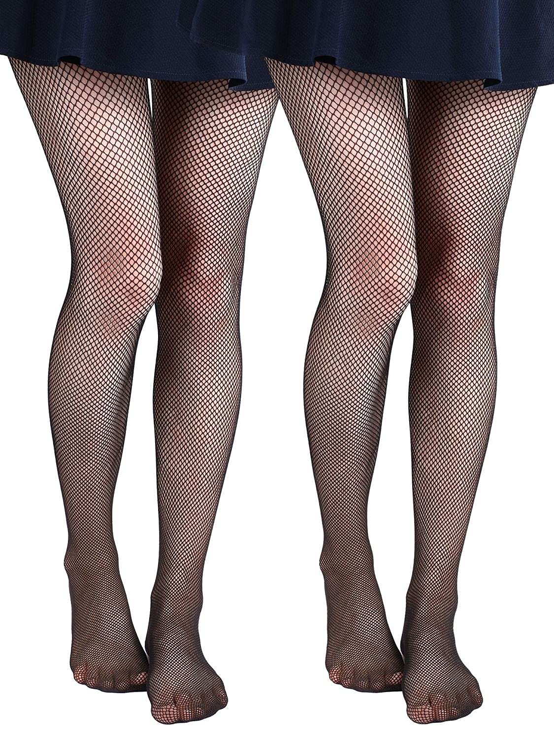 4 Pairs Girls Black Fishnet Tights Mesh Net Stockings Hollowed-Out Pantyhose