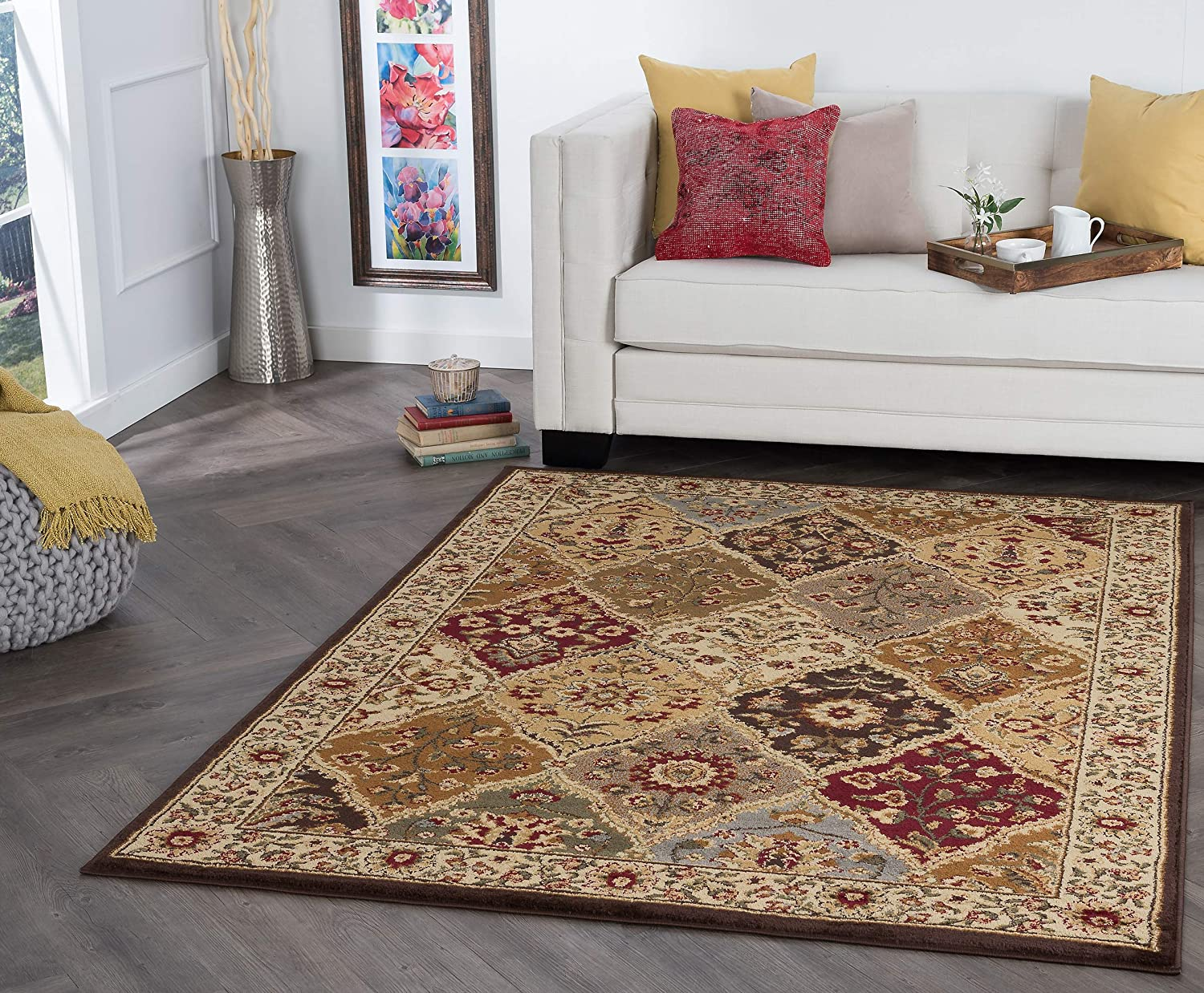 Universal Rugs 105120 Multi 8x10 Area Rug 7 Feet 6 Inch By 9 Feet 10 Inch Home Kitchen