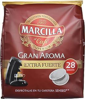 Marcilla Café Gran Aroma Extra Fuerte - 140 Monodosis compatibles con las máquinas de…