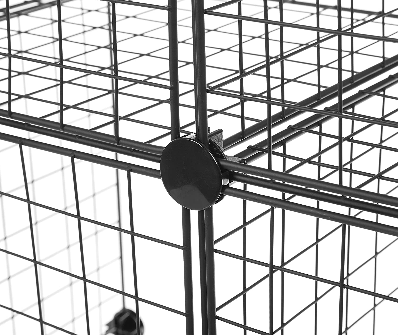 Amazon.com: AmazonBasics 6 Cube Wire Storage Shelves - Black: Home ...