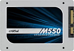 """(OLD MODEL) Crucial M550 256GB SATA 2.5"""" 7mm (with 9.5mm adapter) Internal Solid State Drive - CT256M550SSD1"""
