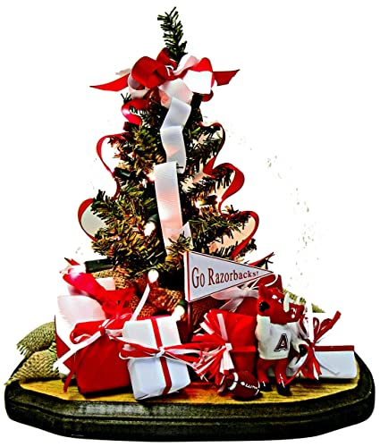 Amazon.com: Abode Decor Gifts Arkansas Razorbacks Christmas Ornament ...