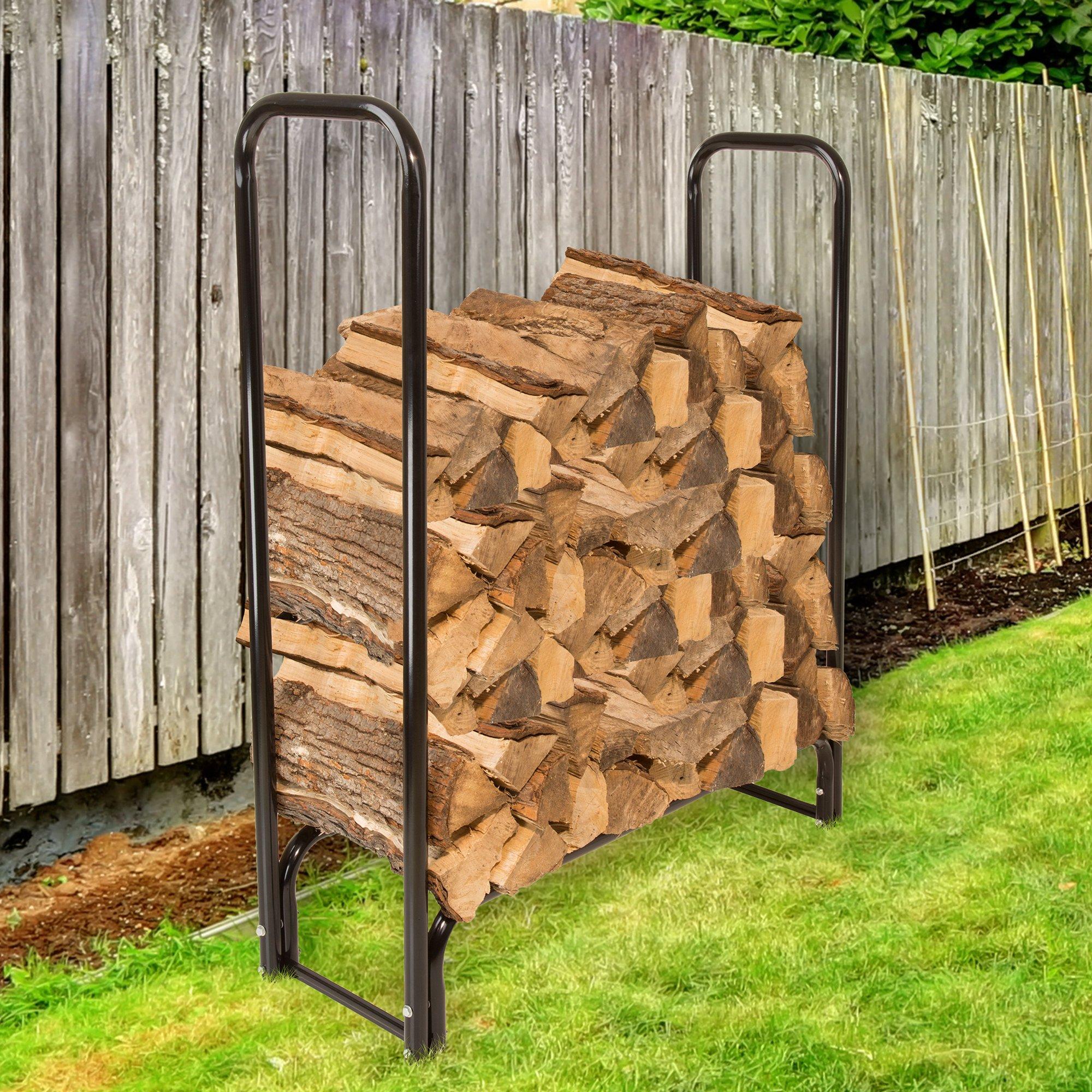 Pure Garden 50-124 Firewood Log Rack, 4' by Pure Garden