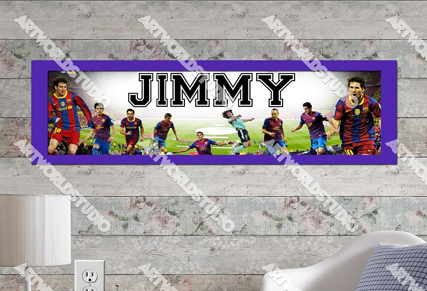 Personalized//Customized Chelsea Football Club Name Poster Wall Art Banner