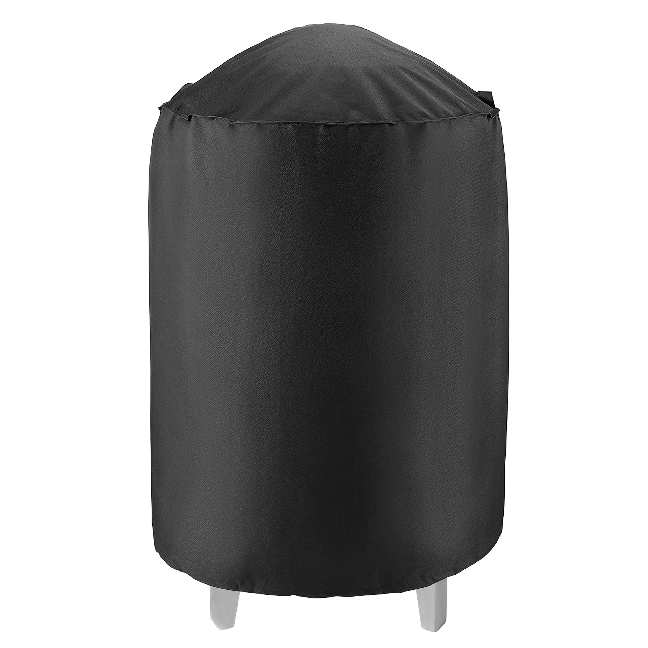 UNICOOK Heavy Duty Waterproof Dome Smoker Cover, 30'' Dia by 36'' H,Kettle Grill Cover, Barrel Cover,Water Smoker Cover,Fit Grill/Smoker for Weber Char-Broil and more