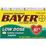 Bayer Aspirin Regimen Low Dose 81mg Enteric Coated Tablets, 32-Count (Pack of 3)