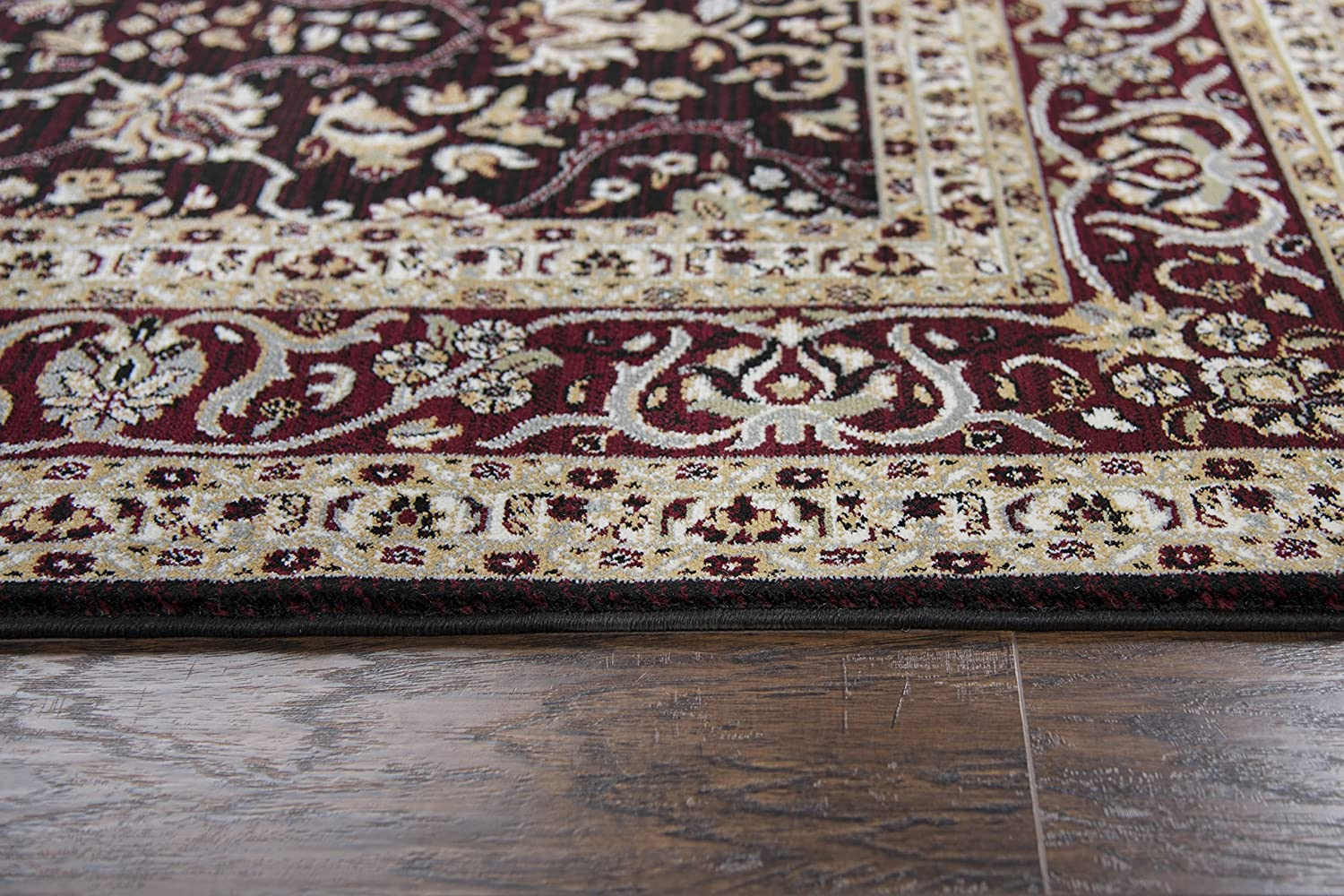 Rizzy Home Zenith Collection Polypropylene Red//Ivory//Sage Green//Gold Oriental Area Rug 23 x 77