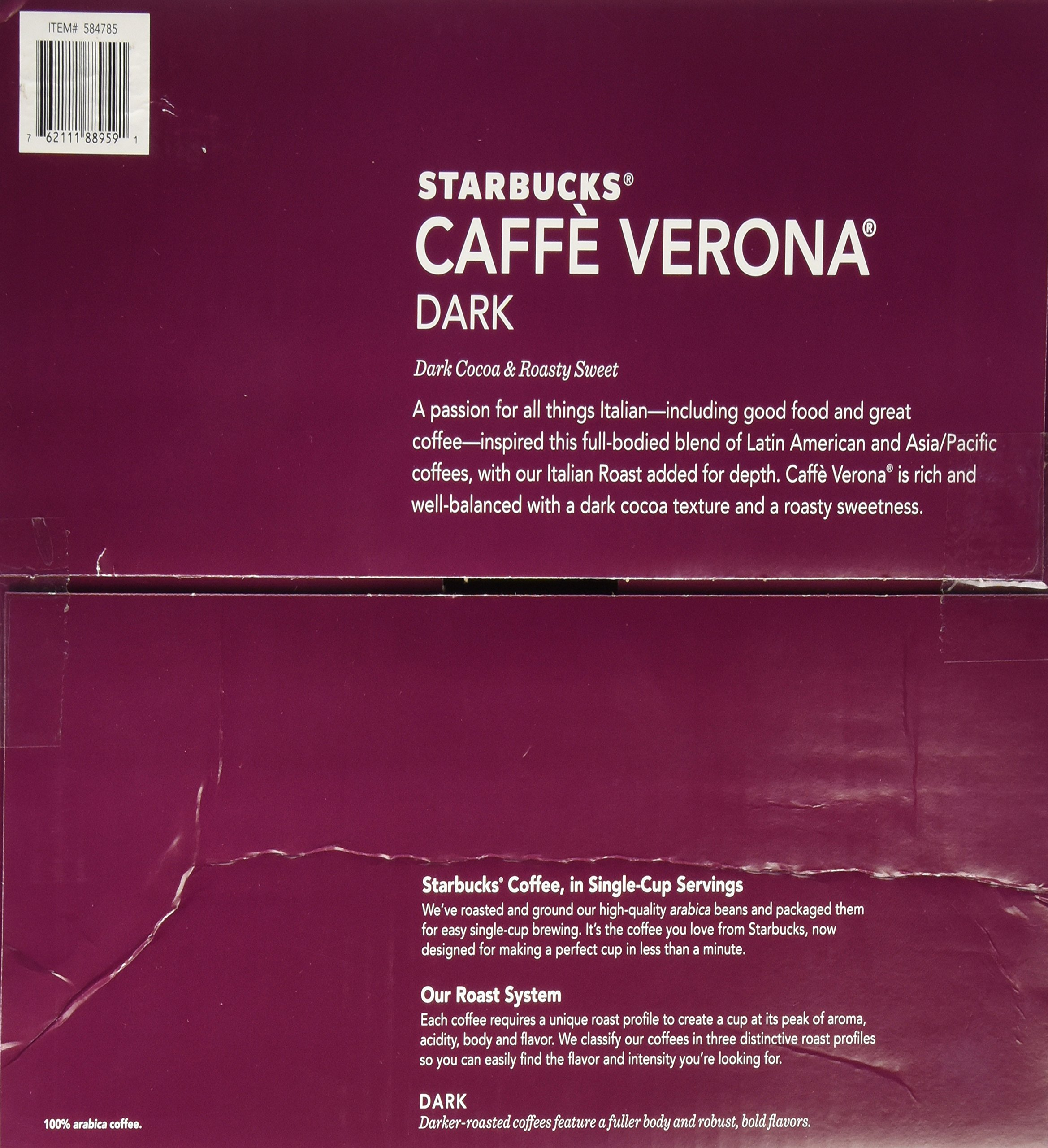 Starbucks Caffè Verona, Dark Roast, 108-Count K-Cups for Keurig Brewers by Starbucks (Image #4)