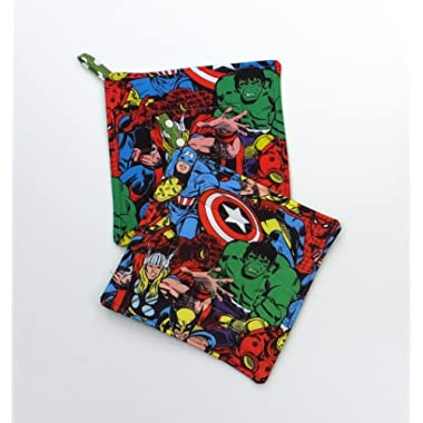 Marvel Avengers Comic Book Potholder Set of 2
