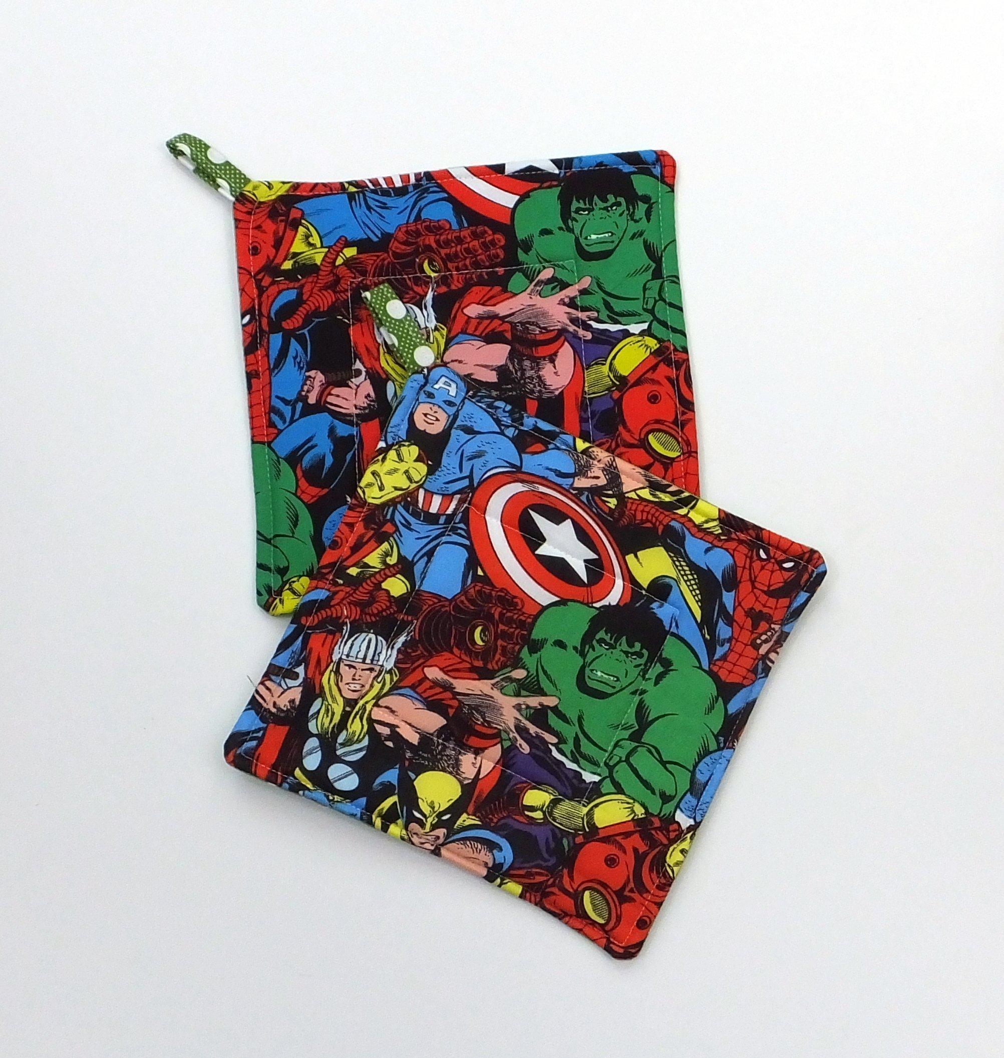 Marvel Avengers Comic Book Potholder Set of 2