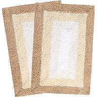 Saral Home Soft Cotton Anti Slip Bathmat Set of 2Pcs -35x50 cm