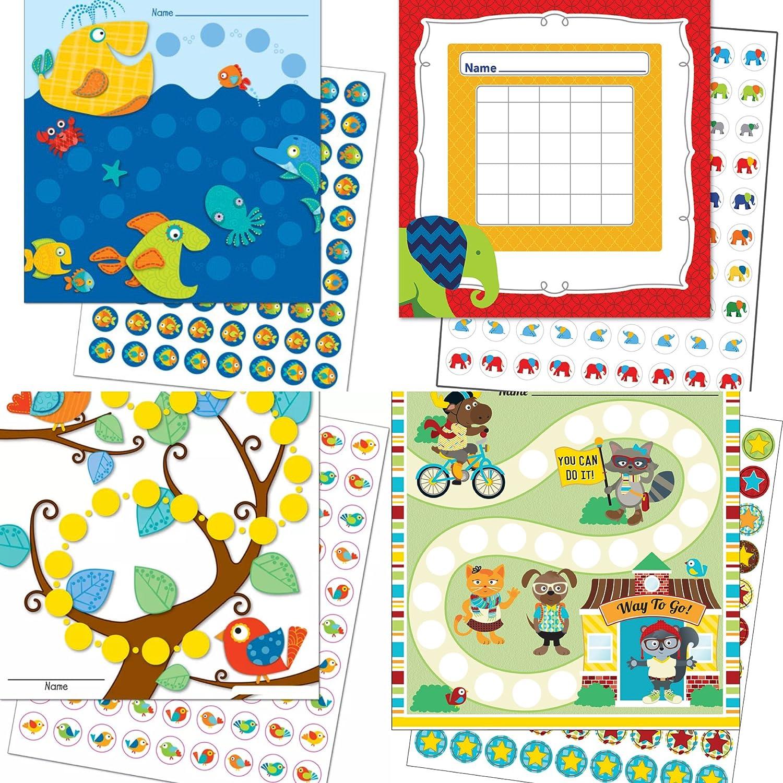 By Diana Kinder Belohnung 3 Trainingssets ( aus Wal, Elefanten, Vögel und lustige Tiere) Kindererziehung Lernziele