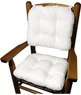Cotton Duck White Child Rocking Chair Cushions   Seat Cushion And Back  Cushion For Childrenu0027s Rocker