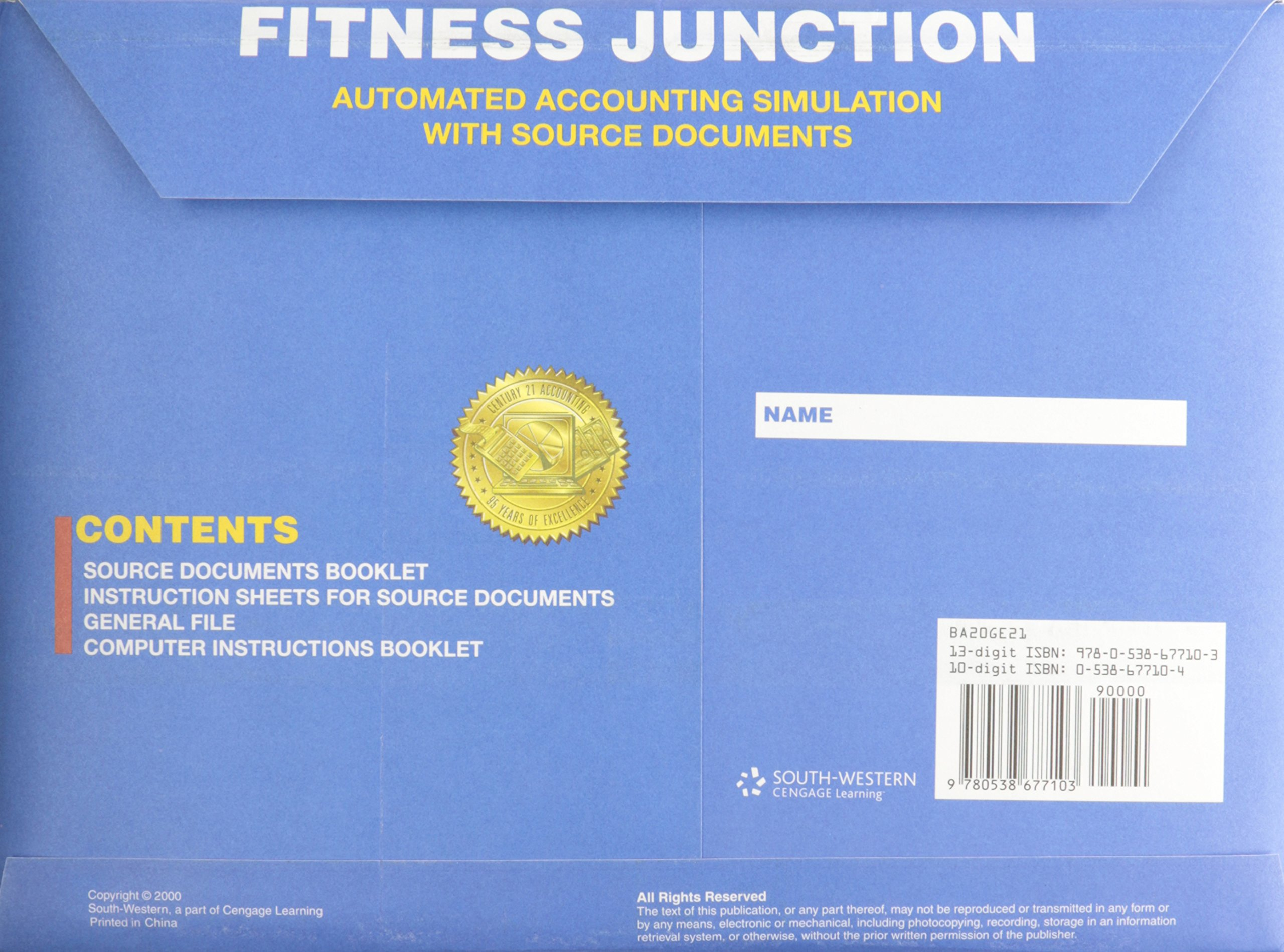 fitness junction automated accounting simulation with source rh amazon com