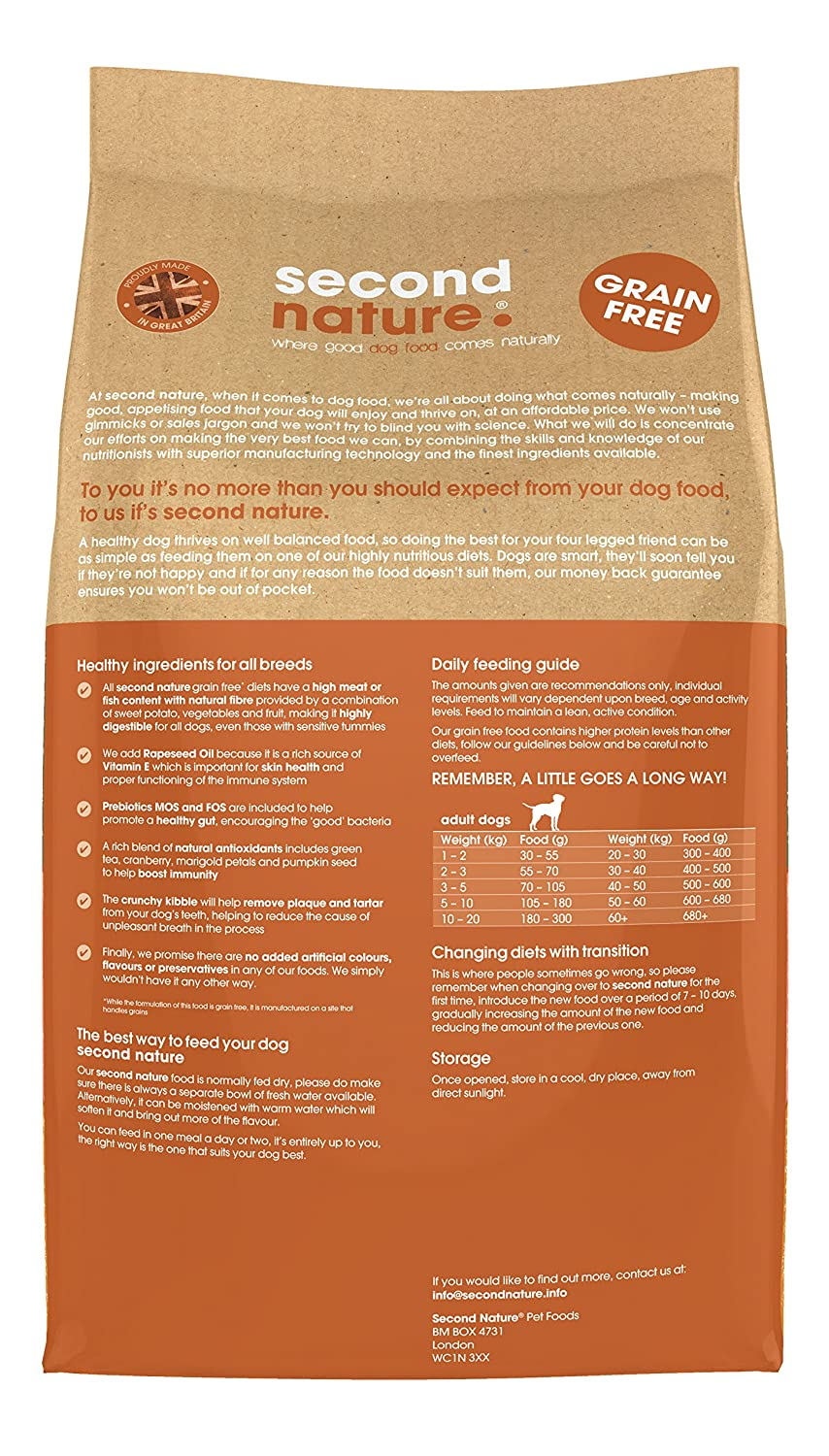 Second Nature Dog Food Adult Grain Free Turkey With Sweet Potato