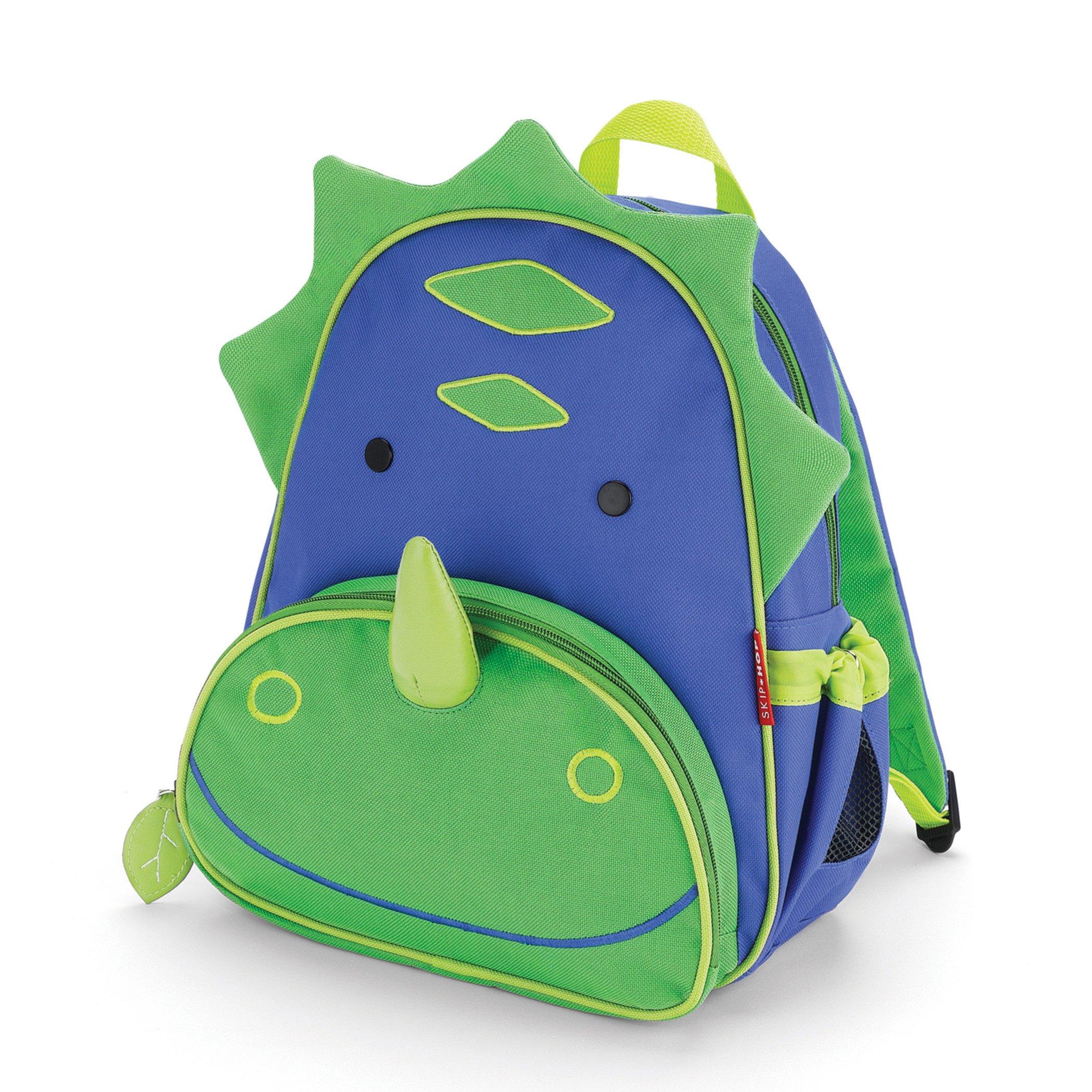 Skip Hop Zoo Insulated Toddler Backpack Dakota Dinosaur, 12'' School Bag,
