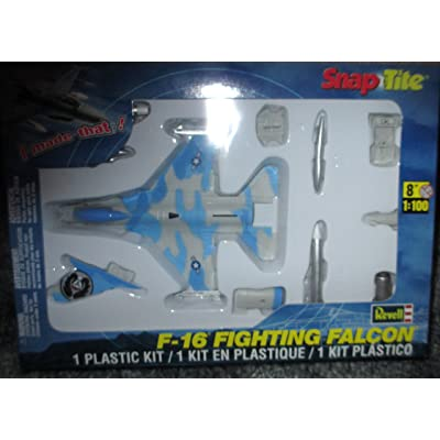 #1389 Revell Snap-Tite F-16 Fighting Falcon 1/100 Scale Plastic Model Kit,Needs Assembly: Toys & Games