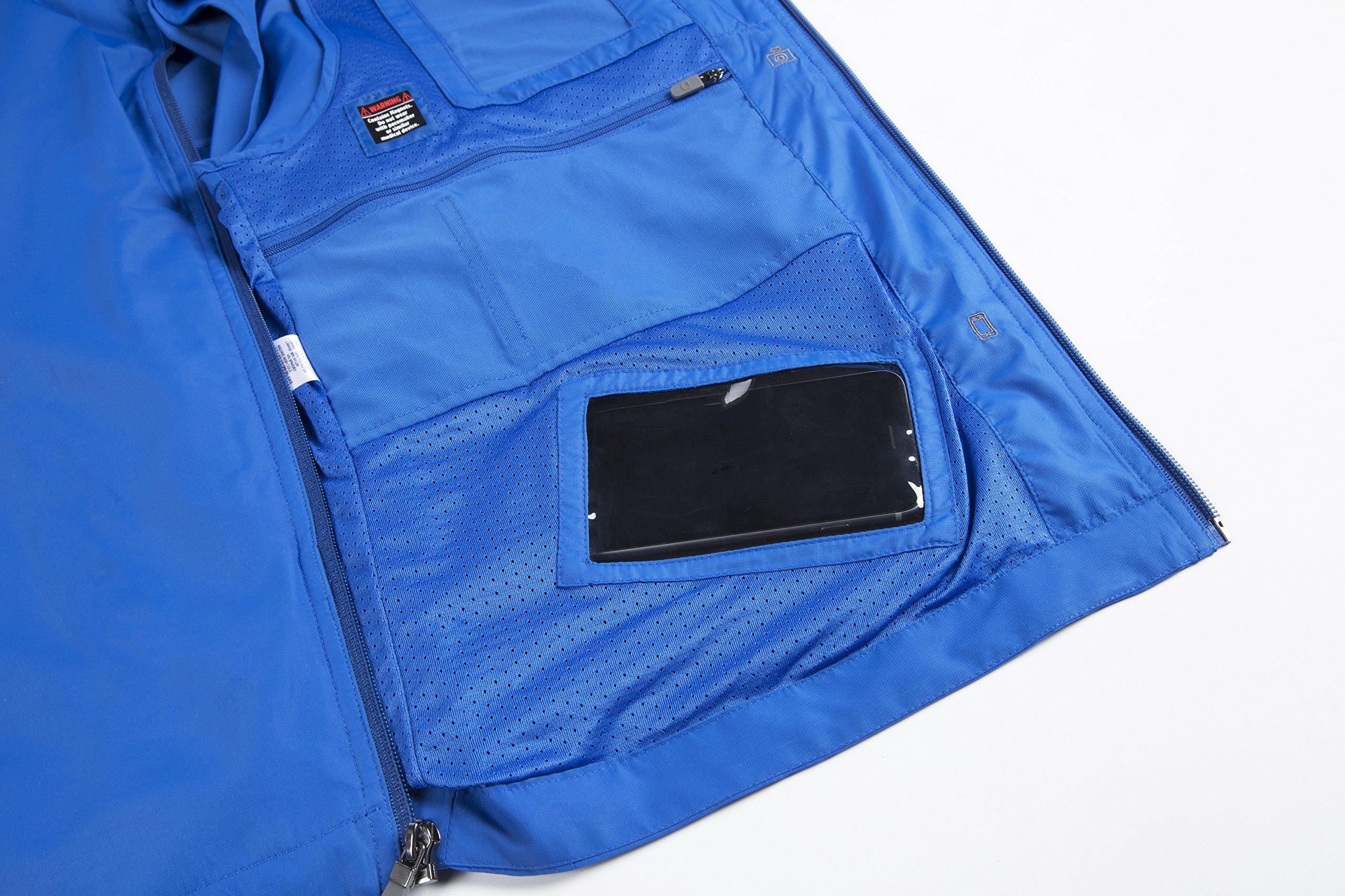 SCOTTeVEST Tropiformer Jacket - 22 Pockets – Convertible, Travel Clothing RED L by SCOTTeVEST (Image #5)
