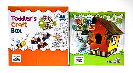 Diy Art Craft Kits Set Of 2 Bird House Toddlers Craft Box