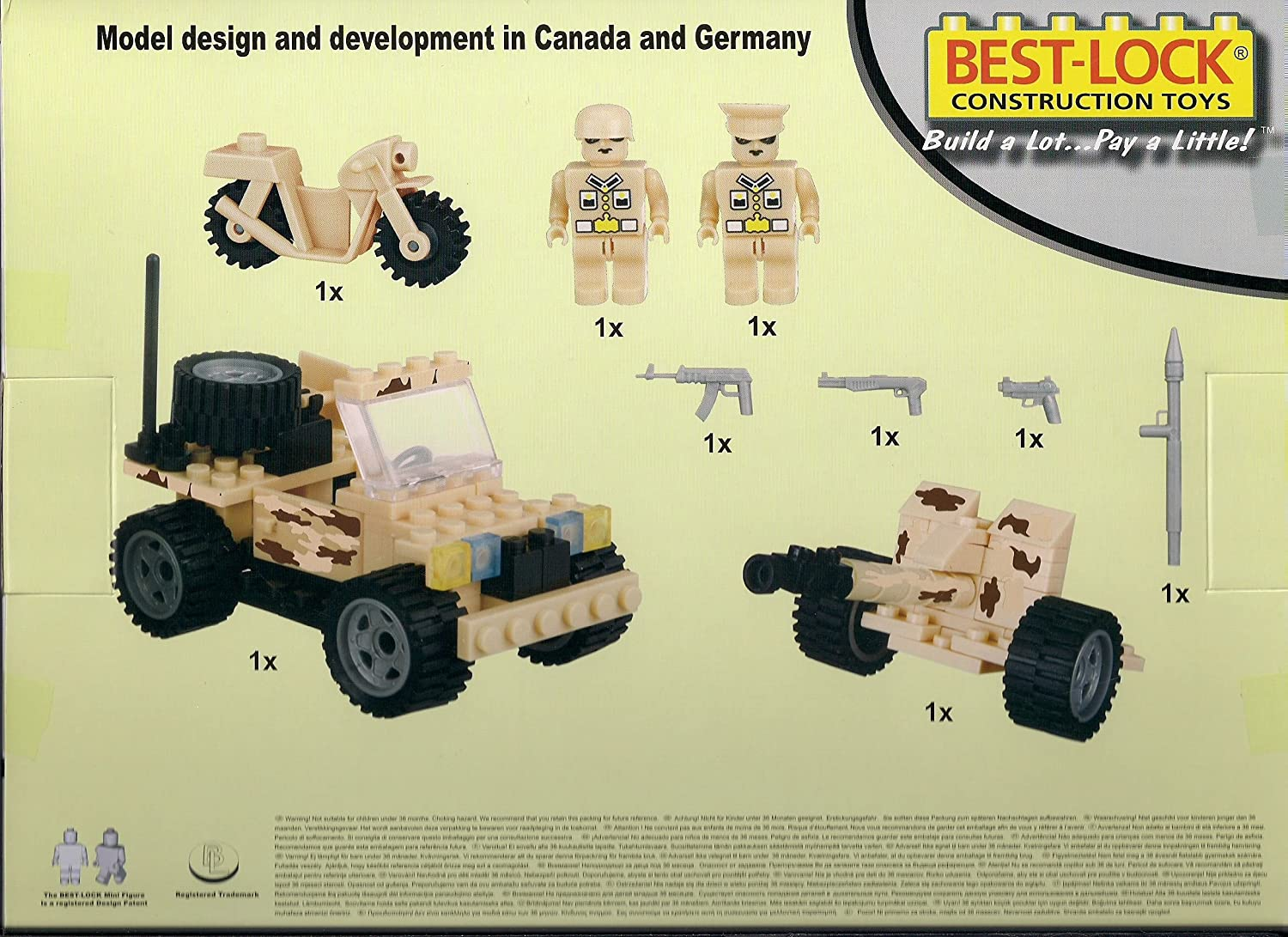 Best-Lock Construction Toys Military Set Best Lock Construction Toys 1223