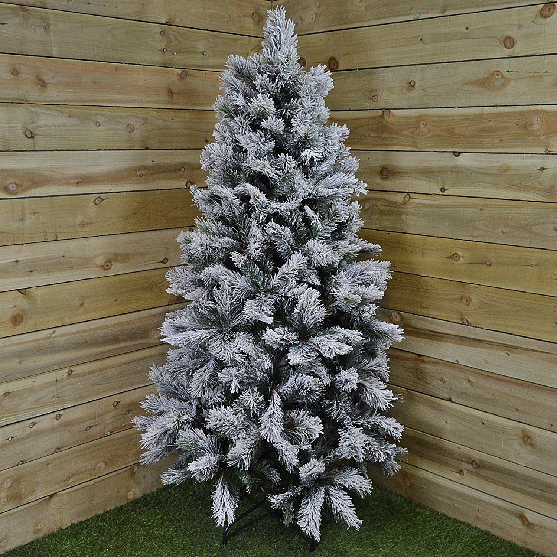 Kaemingk Everlands Snow Covered Vancouver Pine Christmas Tree 5 Feet 150cm