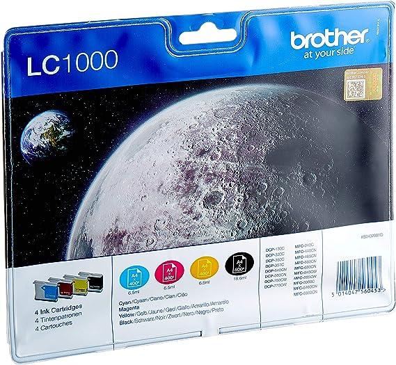 Brother Lc1000valbp Tintenpatrone Multipack Schwarz Cyan Magenta Gelb Bürobedarf Schreibwaren