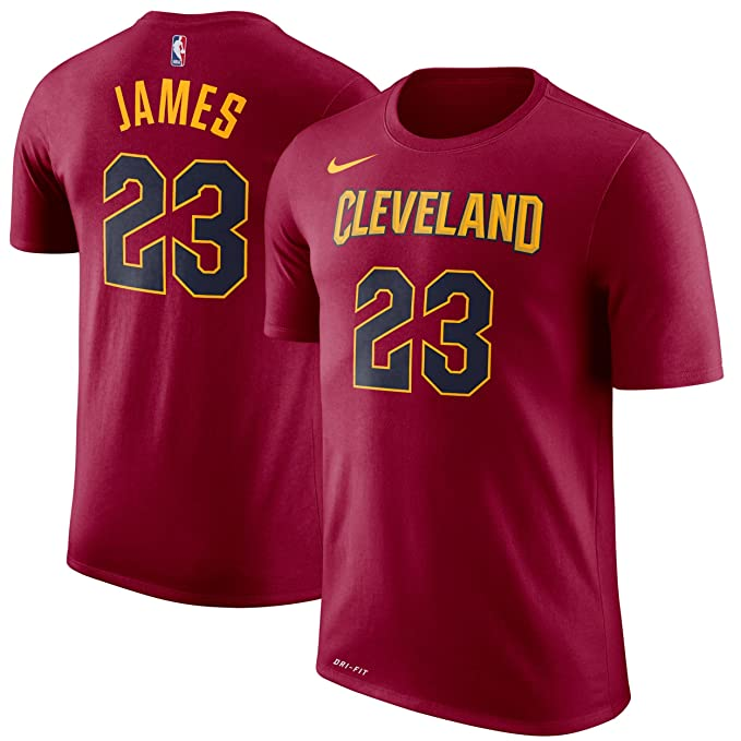 Nike NBA Cleveland Cavaliers Lebron James 23 2017 2018 Icon Edition Name & Number Official,